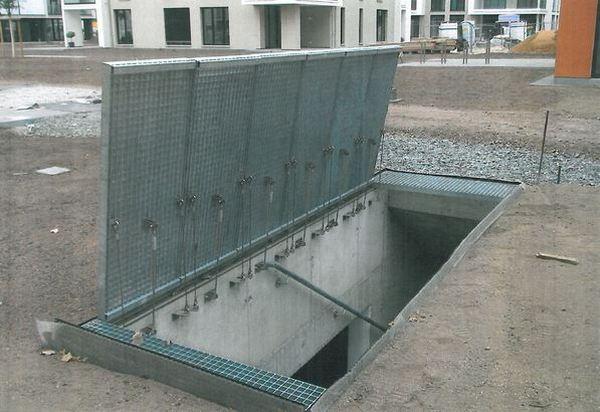 Access for fire brigade to underground parking